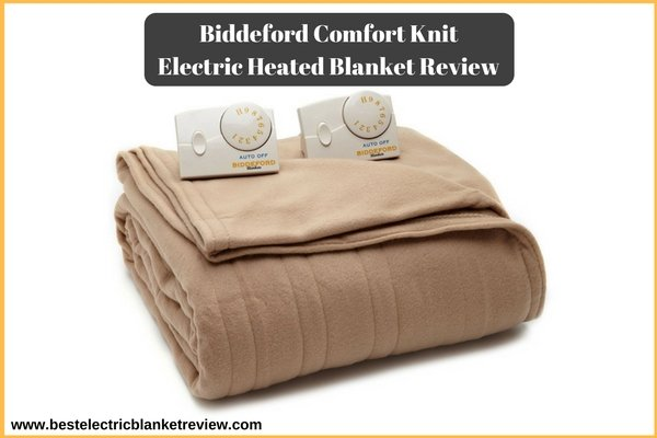 Biddeford Comfort Knit Electric Heated Blanket Review (Amazon)